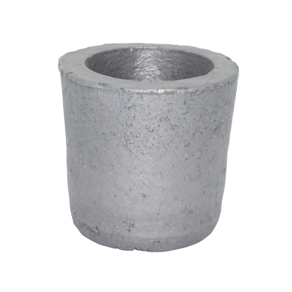 1# Foundry Silicon Carbide Graphite Crucibles Cup Furnace Torch Melting Casting Refining Gold Silver Copper Brass Aluminum