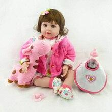 20 «New Silicone vinyle adora Réaliste en bas âge Bébé Bonecas fille enfant poupée bébé reborn meninas silicone toys pour enfants