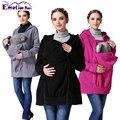 Emoción Mamás Maternidad Invierno Ropa de Maternidad Abrigo del portador de bebé de Múltiples Funciones Canguro capa hoodies Embarazadas Chaqueta S-XL
