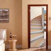 Home decor amazing 3d floor sticker for door adhesive moden wall picture furniture decal
