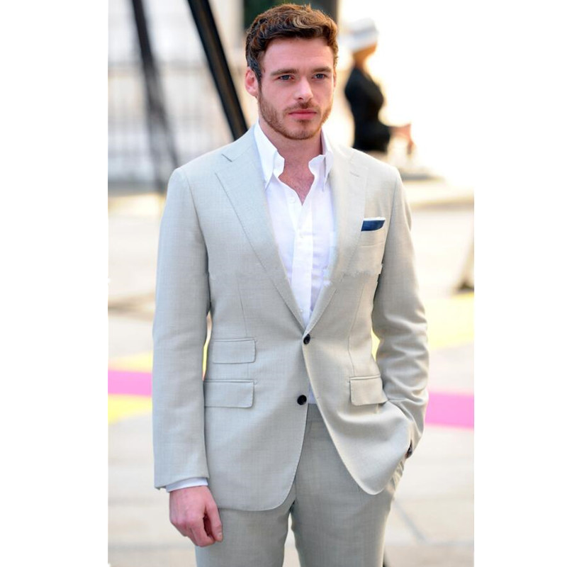 Noennamenull 2017 New Summer Party Prom Men Suits Groom Wedding For