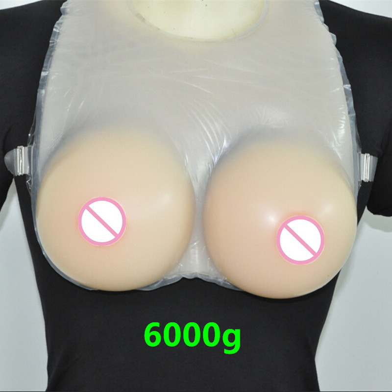 Buy Topleeve 6000g/pair Sz  Huge Large Silicone Breast Prosthesis Chest Form Tits Realistic Nipple Tan Color Crossdresser User