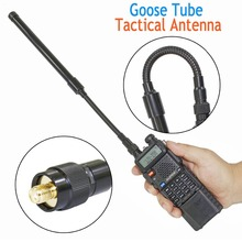 Abbree AR 148 Gans Buis Sma Female Dual Band 144/430Mhz Opvouwbare Cs Tactische Antenne Voor Walkie Talkie baofeng 5R BF 888S Radio