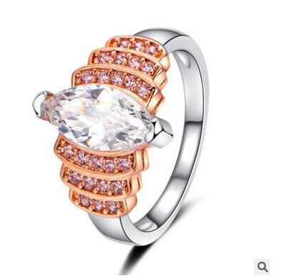 Большой форма лошадь глаз камень Ясно AAAAA большого кольца cz длинная уникальные аксессуары и украшения для женщин Мода jewellery