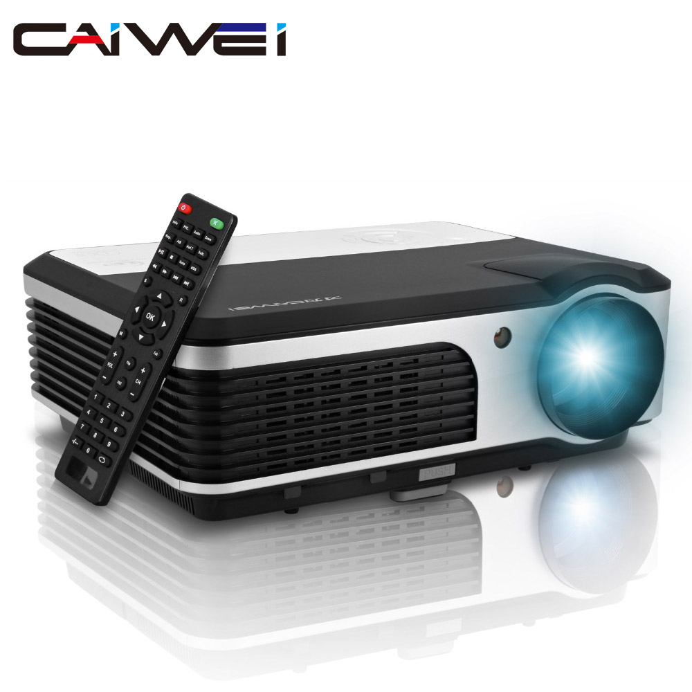 CAIWEI LCD Digital video TV projector Mini projector Led Home Theater 3800 Lumens for mobile phone DVD Tablet