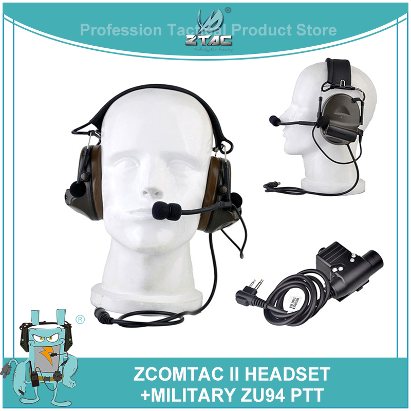Z tactical Softair Comtac 2/II Peltor Noise Canceling Airsoftsports Headset Z041(FG) With Military Version U94 midland PTT Z113-in Tactical Headsets & Accessories from Sports & Entertainment