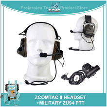 Z tactical Softair Comtac 2/II Peltor Noise Canceling Airsoftsports Headset Z041(FG) With Military Version U94 midland PTT Z113