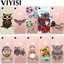 Owl Animal For Apple iPhone X IPhone 7 case 8 6 6S Plus Cover 5 5S SE XS MAX XR Phone Case Soft TPU Silicone Back Coque Shell цена и фото
