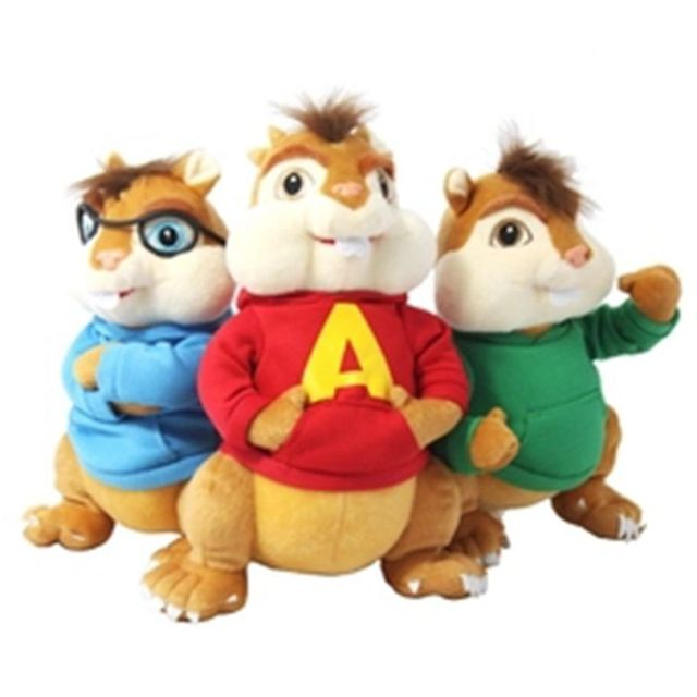 24cm movie alvin and the chipmunks alvin soft plush toys 2016 baby christmas gift free shipping