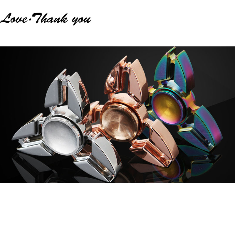 50pcs/lot DHL Free Shipping Hand Spinner Fidget Toys Zinc Fidget spinner wheel Anti stress Tri-spinner For Autism Fidget spinner