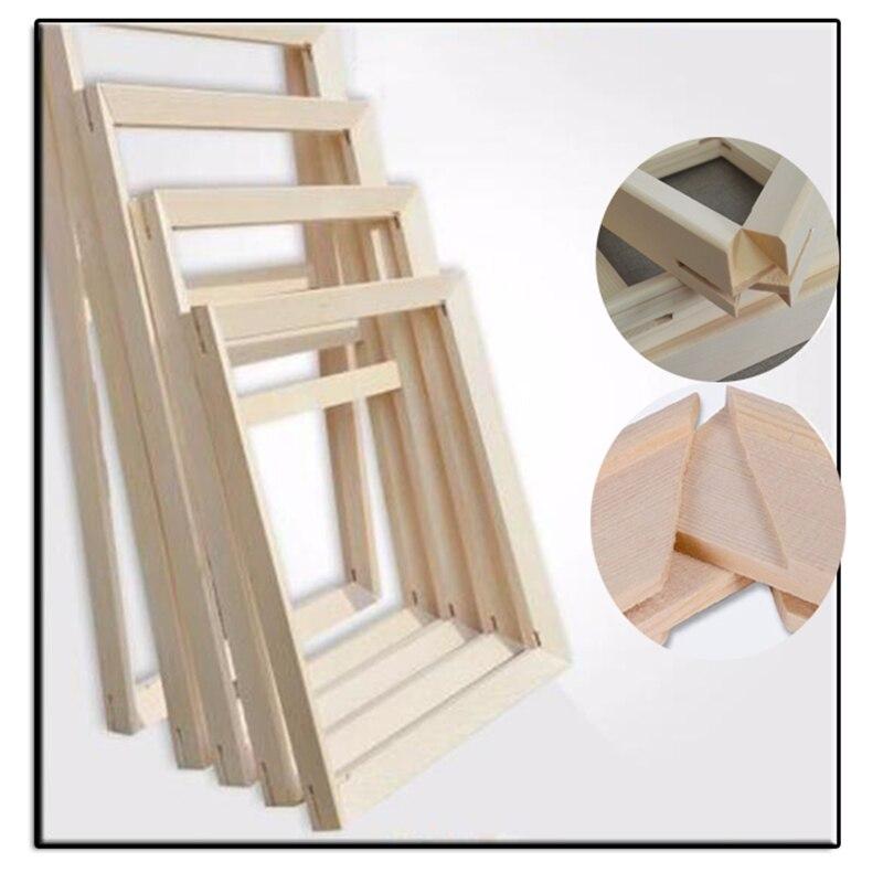 Moldura de madeira para pintura a óleo da lona Preço de Fábrica moldura De Madeira para pintura a óleo da lona natureza madeira quadro DIY foto interior quadro