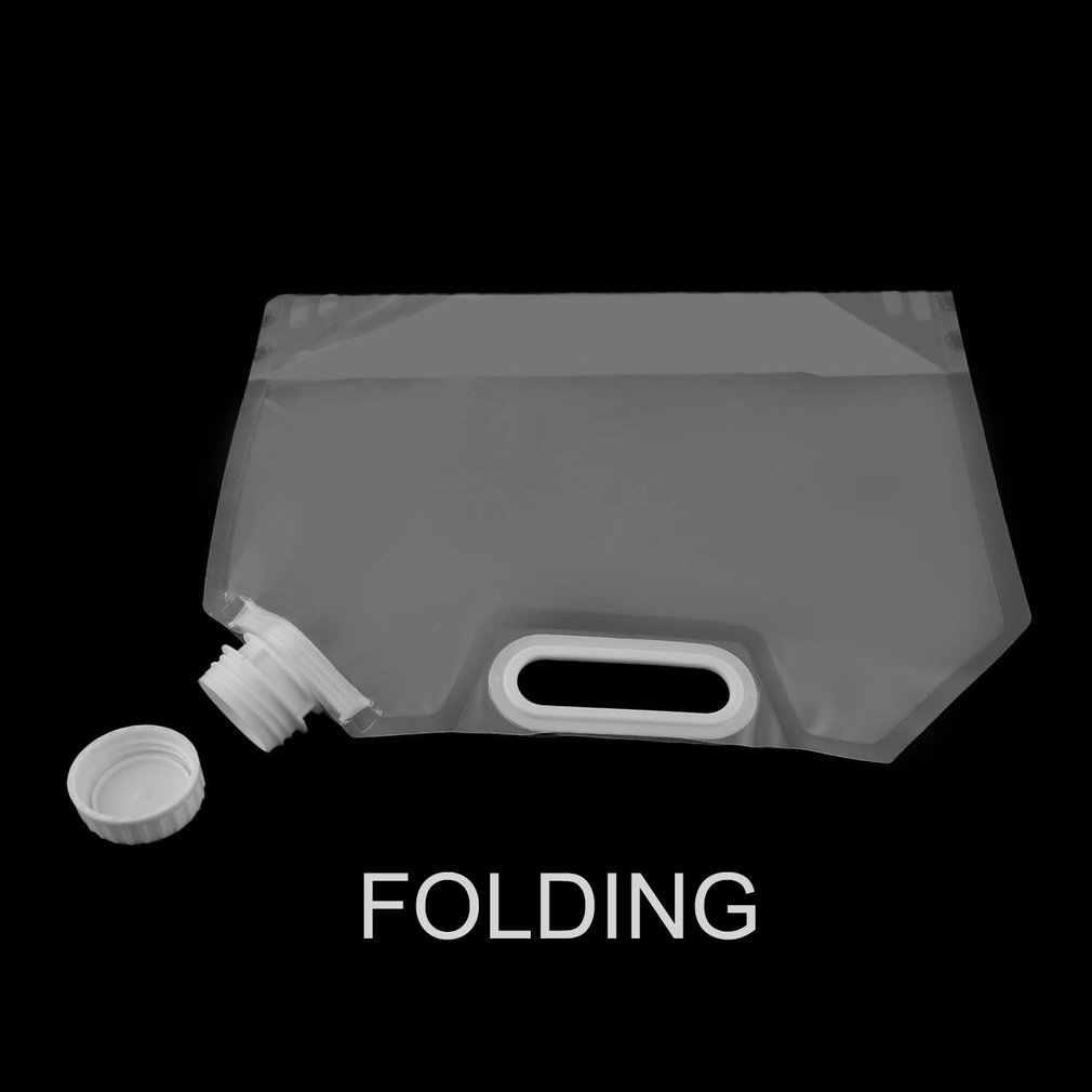 5L portátil plegable de almacenamiento de agua bolsa de elevación Camping senderismo recipiente para líquidos plegable de supervivencia bolsas de agua de emergencia