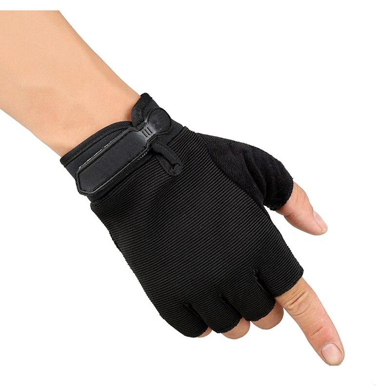Kuyomens ספורט גברים כושר כפפות הרמת משקולות אצבע חצי כפפות אימון חדר כושר פונקציה רב כפפה