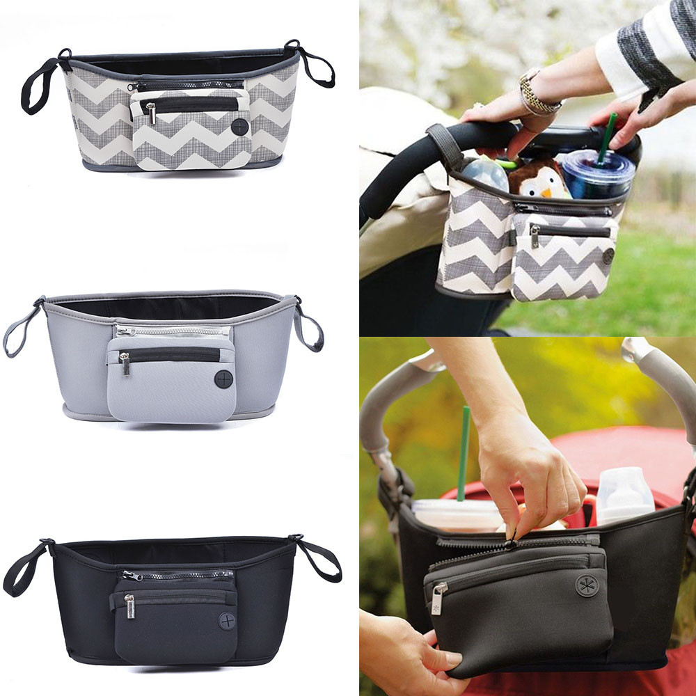 Pushchair Bag Baby Changing Pram Stroller Buggy Storage Pushchair Bag Bottle Cup Organizer Stroller Accessories