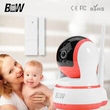 Baby Monitor Wi-Fi Ip-камера + Датчик Двери P2P Видеонаблюдения Системы Безопасности 720 P HD Беспроводной Двусторонней Аудио BW13P