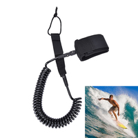 10ft black surfplank voet leash rope TPU Paddle board surf leiband Sup leiband touw stand up paddle board leash rope coil