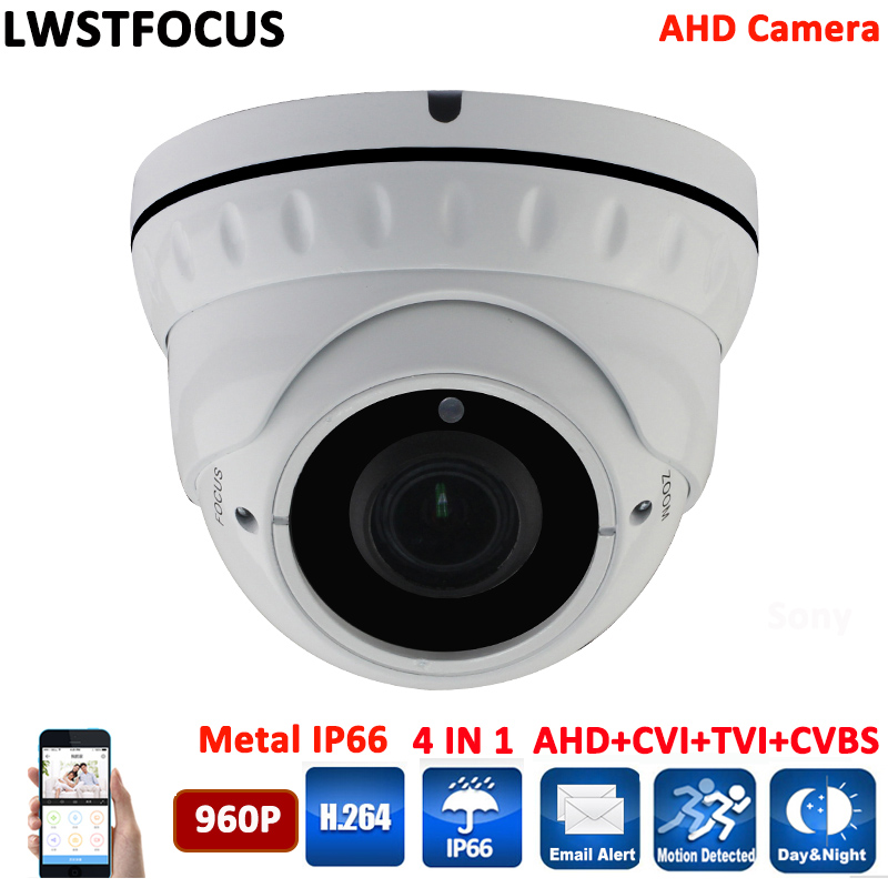 Varifocal Outdoor Dome AHD 1.3mp 36 IR LED AWESOME Quality Video CCTV cmos 960p Dome Camera Home Security Day/Night OSD 4 in 1 4 in 1 ir high speed dome camera ahd tvi cvi cvbs 1080p output ir night vision 150m ptz dome camera with wiper