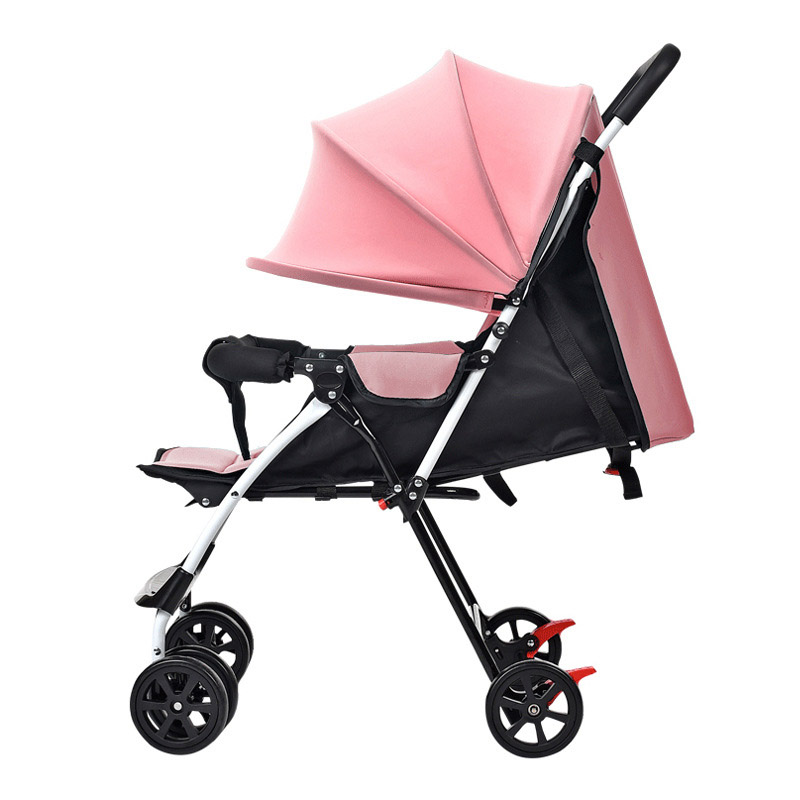Baby Cart Lightweight Small Baby Stroller Can Lie Flat Portable Folding Airplane Car Pram Shock Absorber Baby Carriage Pushchair summer mosquito net travel folding portable four wheel cart carriage reversible car baby stroller lightweight pram pushchair