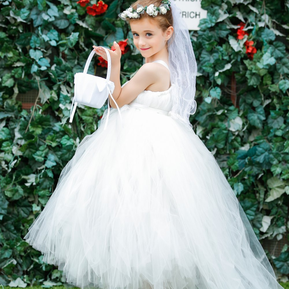Light Ivory Flower Girl Dresses Gorgeous Tutu Frocks rustic weddings ...