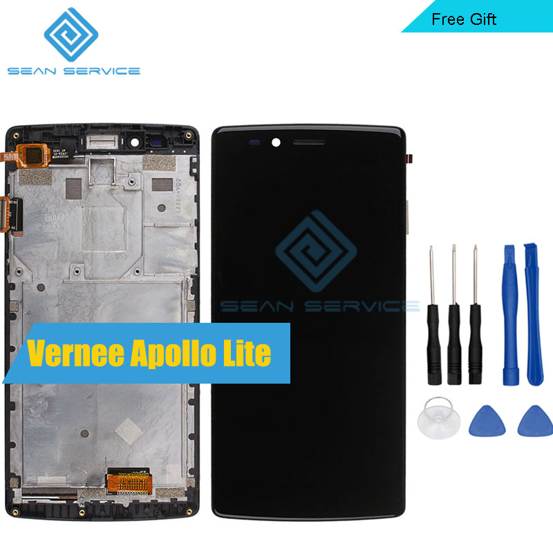 For Vernee Apollo Lite Original LCD in Mobile phone LCD Display TP Touch Screen Frame Digitizer