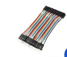 Dupont Line 40pcs 10cm Male To Female Jumper Wire Dupont Cable 2.54mm Male to female bread line 10cm(China (Mainland))