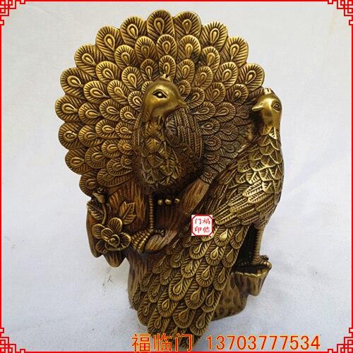 Copper Wedding Gifts: Fortune Oil Bronze Copper Peacock Copper Decoration New