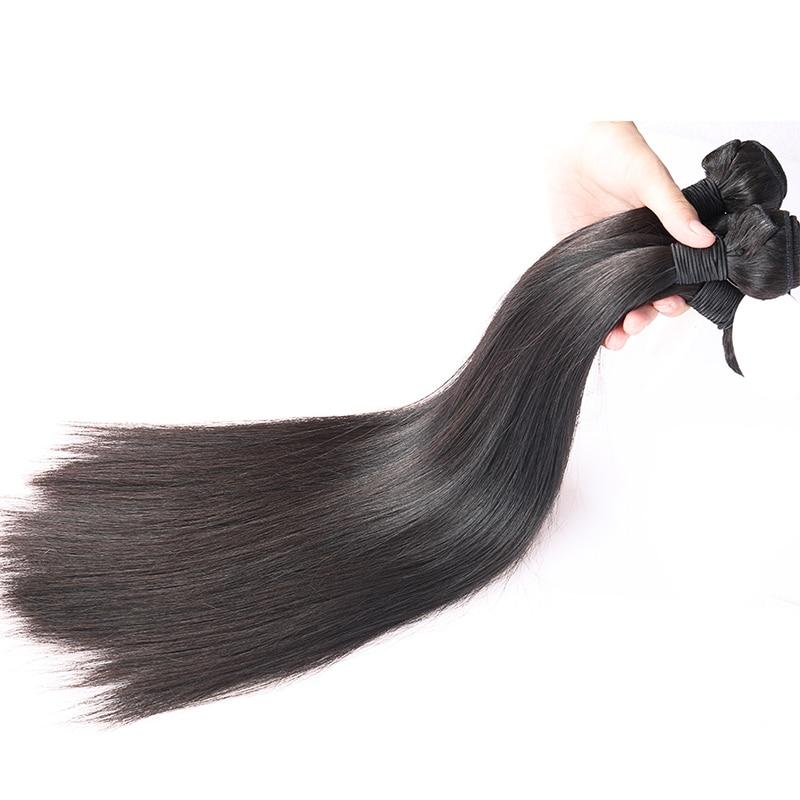 Brazilian Virgin Hair Straight 100% Human Hair Weave Bundles kan - Mänskligt hår (svart) - Foto 2