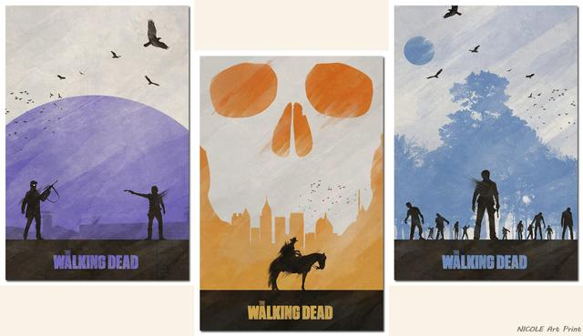 3 Posters Set – The Walking Dead TV Series Art Silk Fabric Wall Poster Print 12×18 20×30 24×36″ Living Room Decor