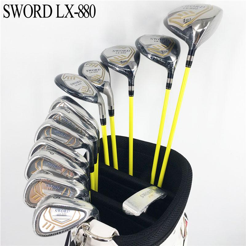 New Golf Clubs KATANA SWORD LX-880 Complete Clubs Set Golf Driver+Fairway Wood+irons+hybrid Graphite Golf Shaft Free Shipping