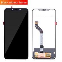 """100% מקורי + מסגרת עבור 6.18 """"xiaomi poco F1 LCD תצוגת מסך מגע Digitizer עצרת עבור xiaomi mi Pocophone F1 (10 נקודה)"""