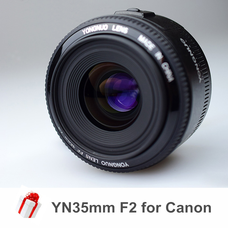 Ulanzi Yongnuo YN35mm F2 F2.0 Camera Lens Wide Angle Large Aperture Fixed Auto Focus Lens for Canon EF Mount EOS 5DII 650D 60D стоимость