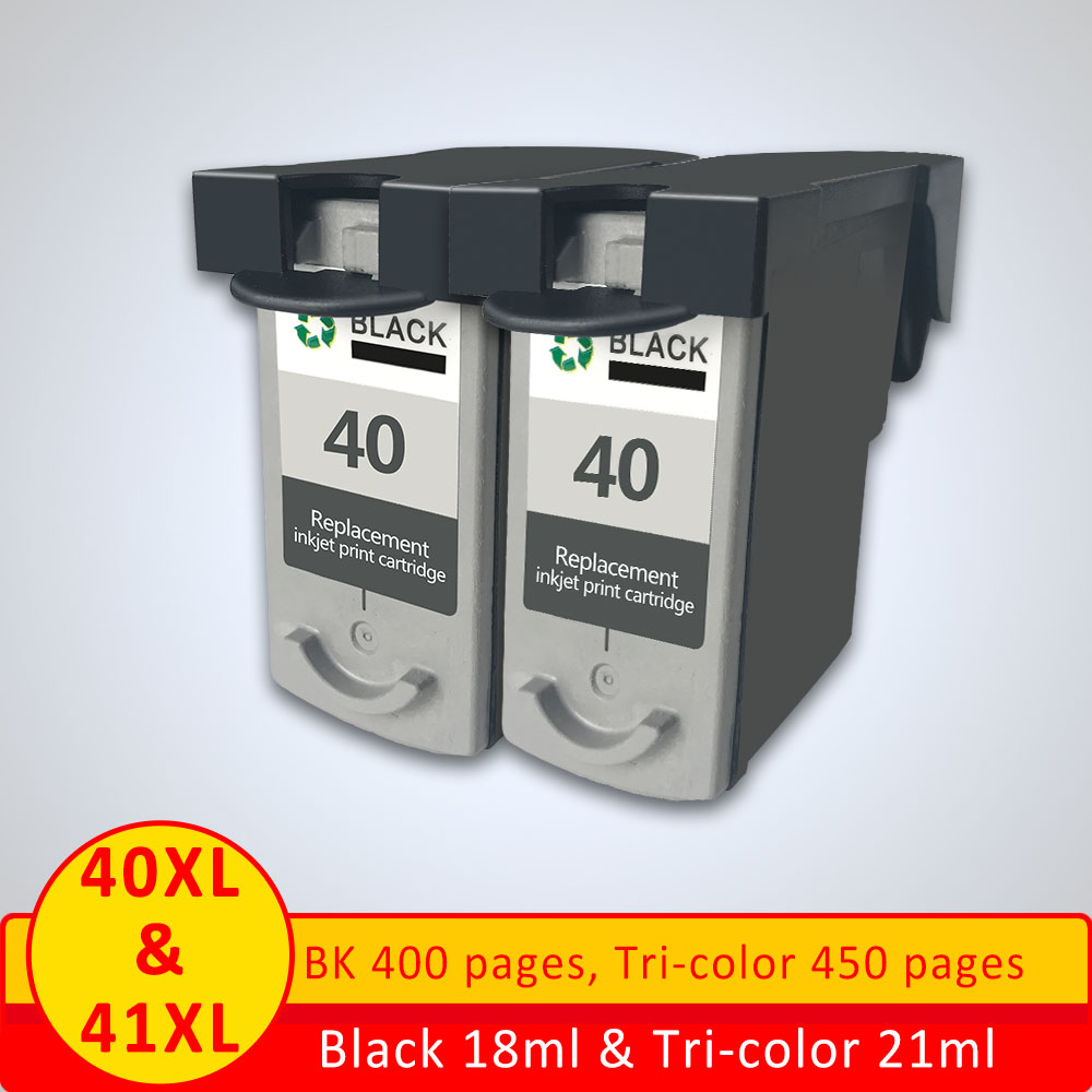 PG-40 Cl-41 Compatible Ink Cartridge for Canon Fax Series Fax-JX200 2BK + 1C