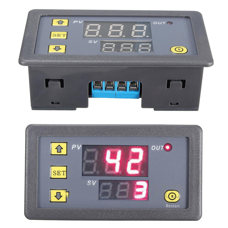 12V Timing Delay Timer Relay Module Digital LED Dual Display Cycle 0-999 Hours Adjustable Power Supplies Mayitr dc 12v led display digital delay timer control switch module plc automation new