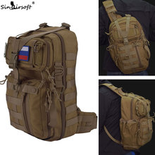 SINAIRSOFT Tactical Backpack 1000D Nylon 14 Inches Laptop Crossbody Molle Rucksack Sport Camping Hiking Fishing Shoulder Bags