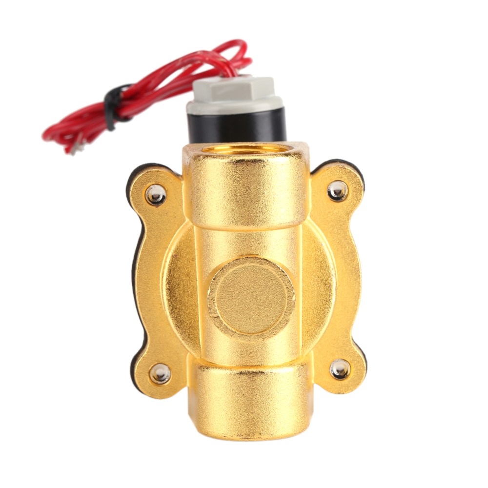 220V DN15 1/2 Electric Normal Closed Solenoid Valve NBR Electromagnetic Valves for Water Oil Air Gas Tools Accessory