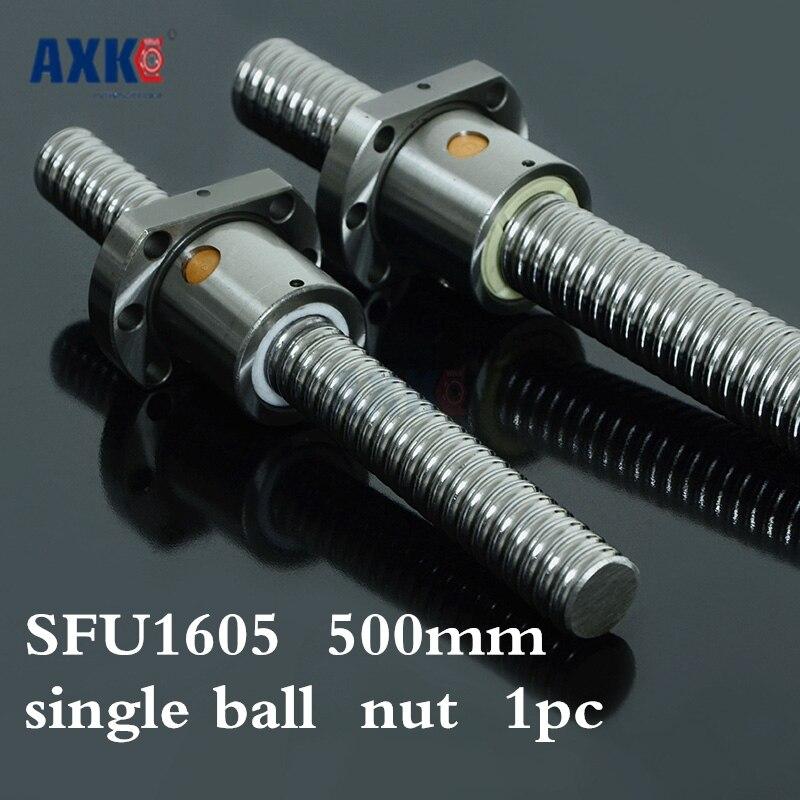 Бесплатная доставка Axk Rm1605 Sfu1605 550мм 550мм проката швп 1 шт.+1 шт. шариковая Гайка для Sfu1605