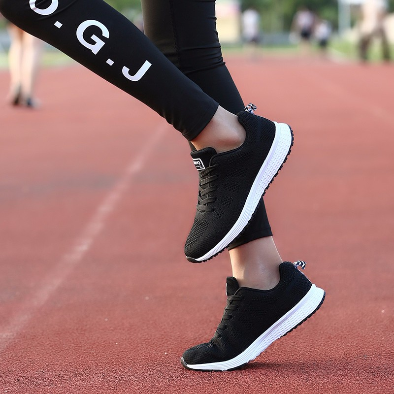 Fashion Women Shoes Breathable Air Mesh Trainers 2017 Spring New Low Toe Sport Casual Shoes Striped Lace Up Women Shoes YD145 (37)