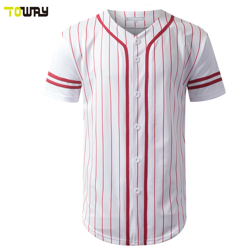 01152a47f11 Custom 100% polyester pinstripe baseball jersey wholesale-in ...