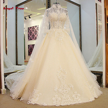 2017 Angel Tree Custom Made Wedding Dresses A-Line  Luxury Full Pearls Appliques Beading Full Bridal Gowns Vestido De Noiva