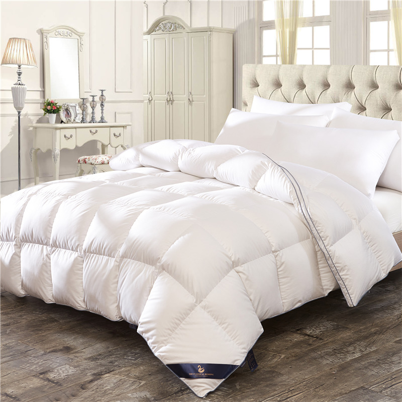 White Pink Feather velvet Down Winter Thick Duvet Comforter Bedding Twin Queen King Size Quilt For Winter/Autumn/Summer