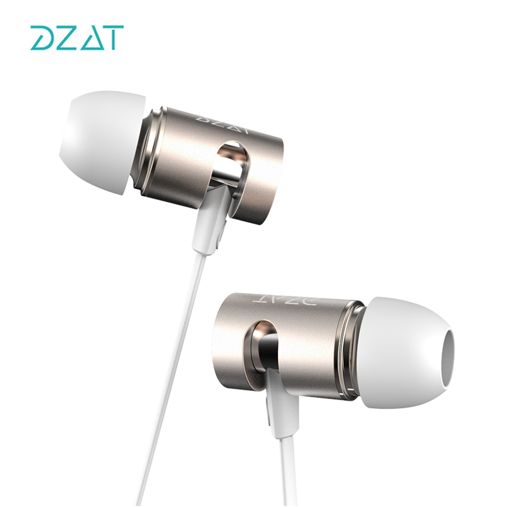 DZAT DR10 Adjustable HIFI Bass In-ear Earphone High Qaulity Flat Head Earbuds In Ear Headset Dynamic Earphone With MIC brand new original superlux hd330 headphone professional monitoring semi open dynamic noise isolating over ear dj hifi headset