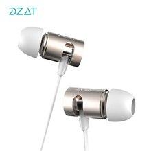 DZAT DR10 Adjustable HIFI Bass In-ear Earphone High Qaulity Flat Head Earbuds In Ear Headset Dynamic Earphone With MIC