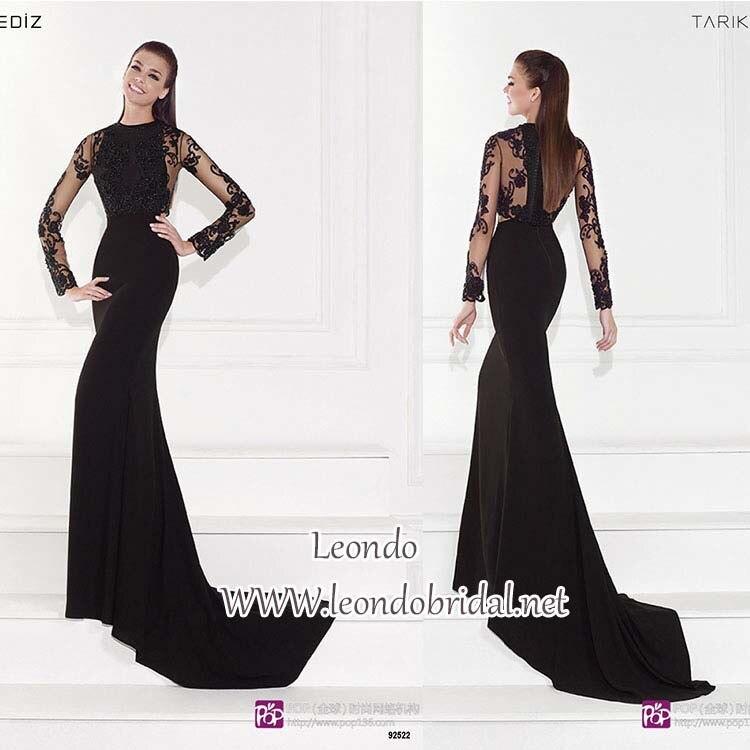 Tarik Ediz Black Evening Dress 2015