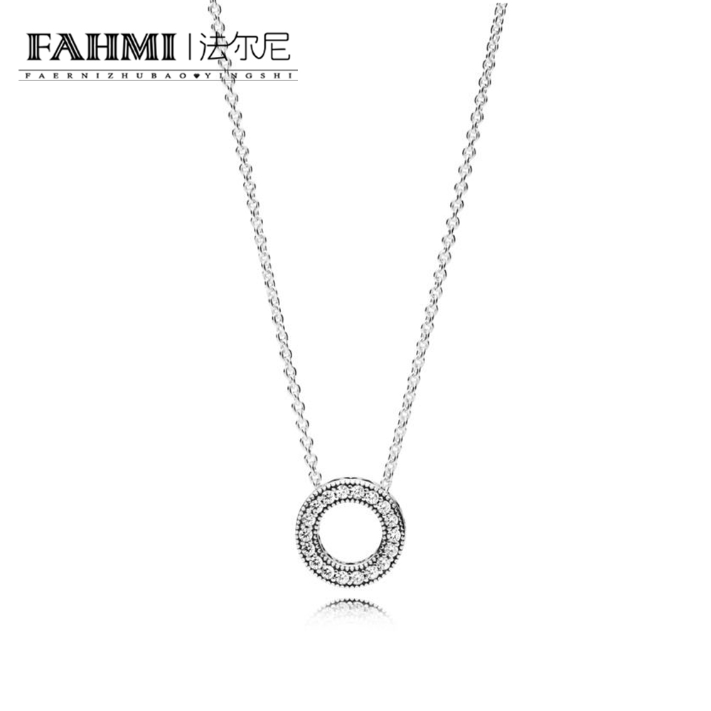 FAHMI 100% 925 Sterling Silver 1:1 Brand New Original 397436CZ FOREVER COLLIER NECKLACE Womens Day Wedding JewelryFAHMI 100% 925 Sterling Silver 1:1 Brand New Original 397436CZ FOREVER COLLIER NECKLACE Womens Day Wedding Jewelry