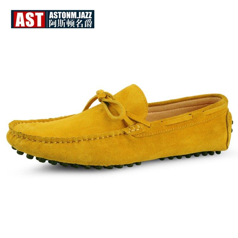 US6 11 Big Size 45 Koe Suède Mens Slip Loafers Casual Rijden Auto Mocassin Bootschoenen Kwastje Loafer-in Casual schoenen voor Mannen van Schoenen op  Groep 1