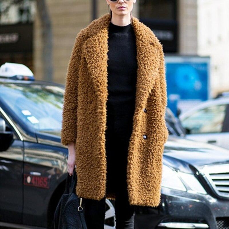 Cappotti Risvolto Agnello Inverno Caldo Formato 2019 Di Pelliccia Donne Cappotto Donna Solido Più Faux Spesso Lana Camel Artificiale Imitazione Del Il Colore CUwqHXw