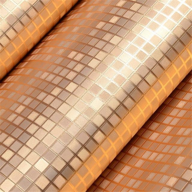 Beibehang Rose Gold Küche Tapeten PVC Mosaik Rolle Wasserdicht 3d Aufkleber  Tapeten Für Badezimmer Dekoration Wand Papier