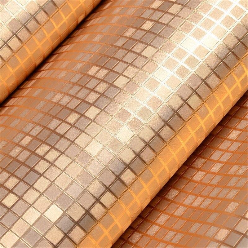 Beibehang rose gold kitchen wall paper pvc mosaic roll - Papel adhesivo para muebles ikea ...