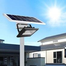 높은 전원 태양 야외 정원 거리 홍수 빛 led 태양 전지 패널 전원 램프 경로 빛 센서 밤 보안 벽 조명