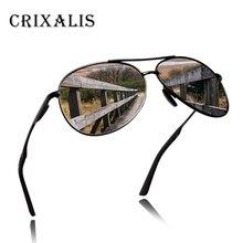 b1e934f284c40 Crixalis Frame Da Liga de DESIGN DA MARCA Óculos Polarizados Homens  Condução Óculos de Aviador Óculos De Sol Para Homens Retro U..